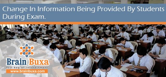 Change in information being provided by students during exam