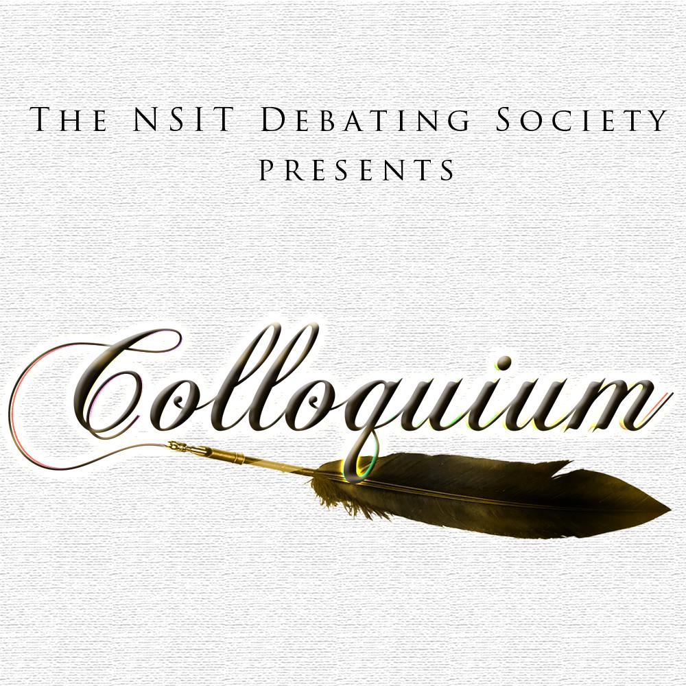 Colloquium - The Literary and Debating Festival of NSIT logo