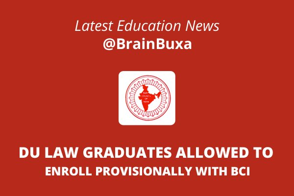 Image of DU law graduates allowed to enroll provisionally with BCI | Education News Photo