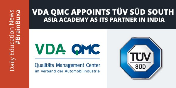 Image of VDA QMC Appoints TÃœV SÃœD South Asia - Academy as its Partner in India | Education News Photo