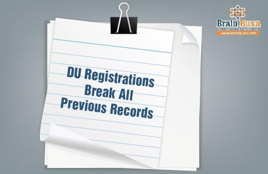 DU registrations break all previous records