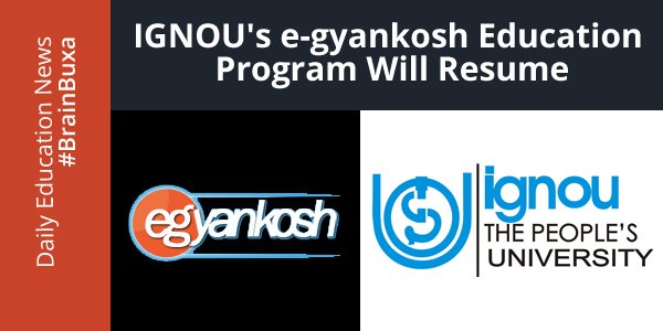 Image of IGNOU's e-gyankosh education program will resume | Education News Photo