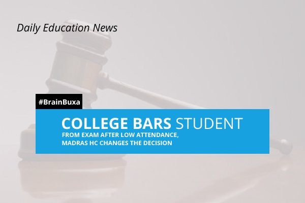 Image of College bars student from exam after low attendance, Madras HC changes the decision | Education News Photo