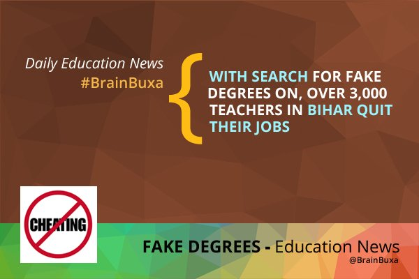 Image of With search for fake degrees on, over 3,000 teachers in Bihar quit their jobs | Education News Photo