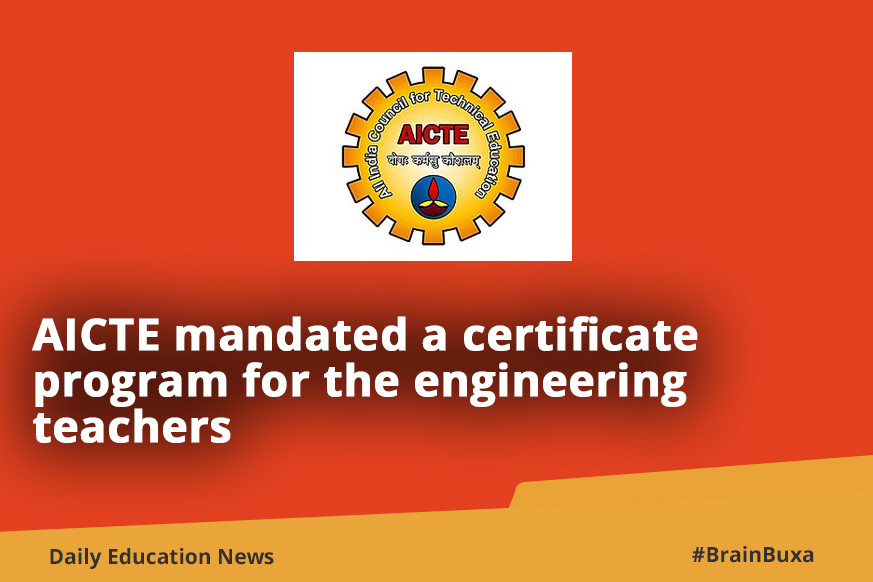Aicte Come With A Certification Program For The Teachers In