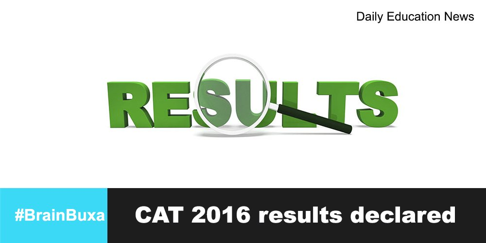 Image of CAT 2016 results declared | Education News Photo