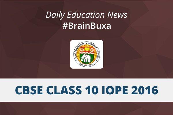 Image of CBSE class 10 IOPE 2016 | Education News Photo