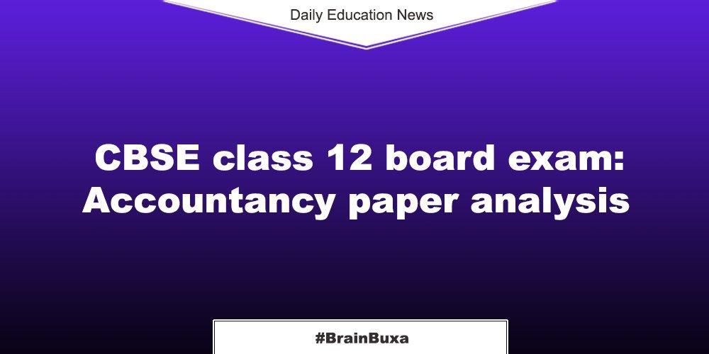 Image of  CBSE class 12 board exam: Accountancy paper analysis | Education News Photo