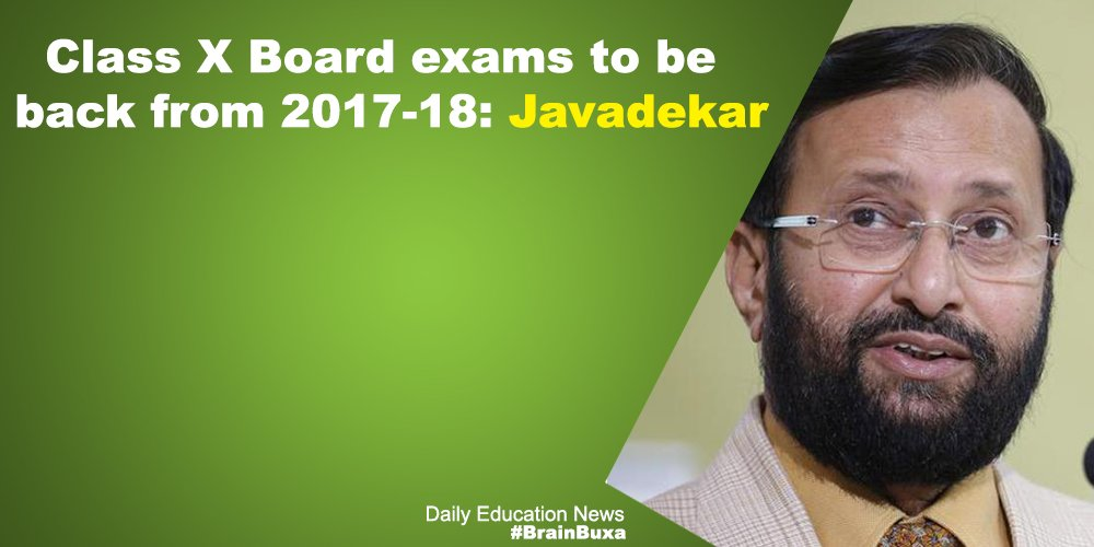 Image of Class X Board exams to be back from 2017-18: Javadekar | Education News Photo