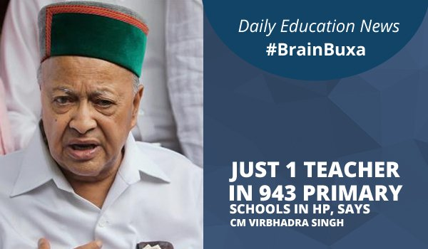 Image of Just 1 teacher in 943 primary schools in HP, says CM Virbhadra Singh | Education News Photo