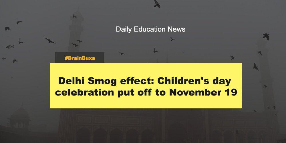 Delhi Smog effect: Children's day celebration put off to November 19