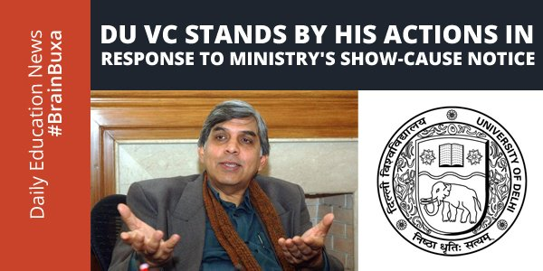 Image of DU VC stands by his actions in response to ministry's show-cause notice | Education News Photo
