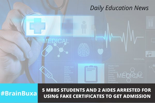 Image of 5 MBBS students and 2 aides arrested for using fake certificates to get admission | Education News Photo
