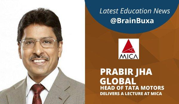Prabir Jha, Global head of TATA motors delivers a lecture at MICA