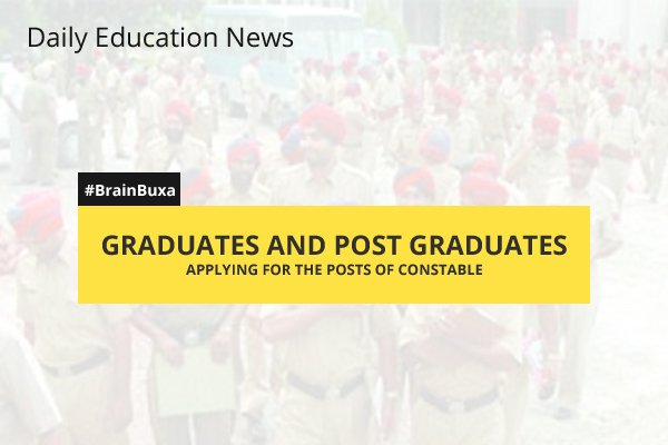 Image of Graduates and Post Graduates Applying for the Posts of Constable | Education News Photo