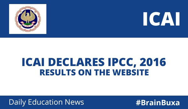 Image of ICAI Declares IPCC, 2016 Results On The Website | Education News Photo