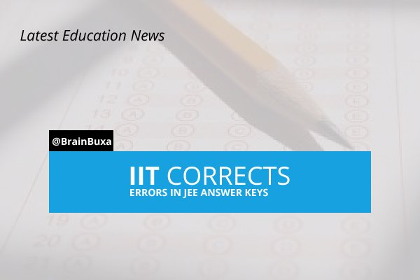 Image of IIT corrects errors in JEE answer keys | Education News Photo