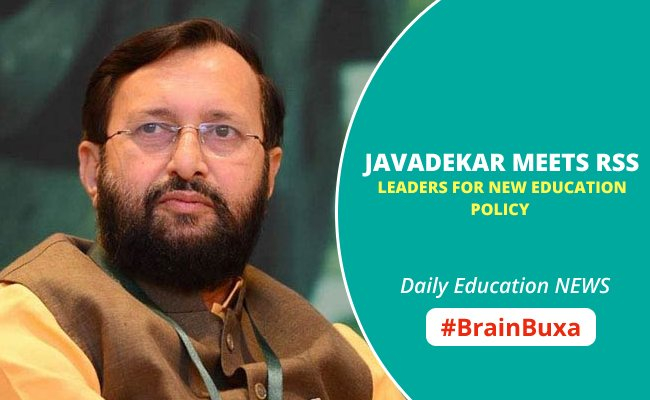 Image of Javadekar Meets RSS Leaders for New Education Policy | Education News Photo