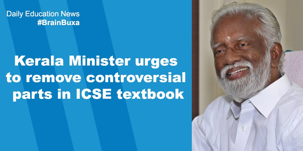 Image of Kerala Minister urges to remove controversial parts in ICSE textbook   Education News Photo