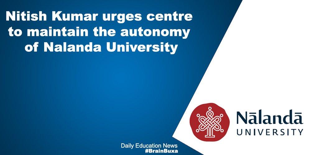 Image of Nitish Kumar urges centre to maintain the autonomy of Nalanda University | Education News Photo