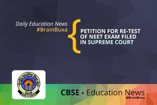 Image of Petition for Re-Test of NEET Exam Filed in Supreme Court | Education News Photo