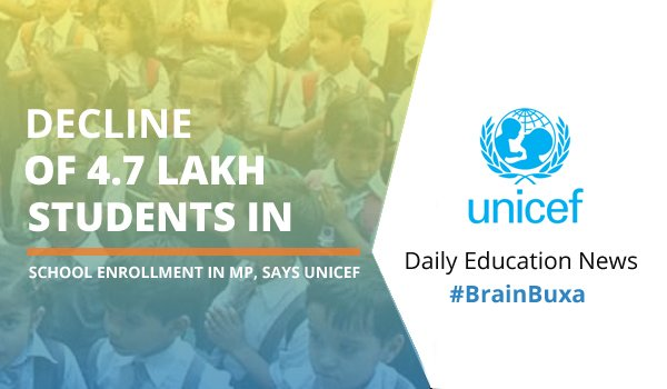 Image of Decline of 4.7 lakh students in school enrollment in MP, says UNICEF | Education News Photo