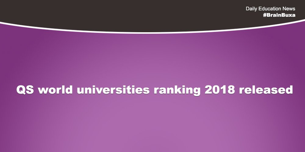 QS world universities ranking 2018 released