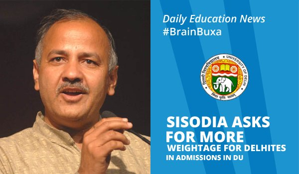 Image of Sisodia Asks For More Weightage For Delhities In Admission In DU | Education News Photo