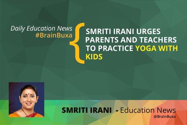 Image of Smriti Irani urges parents and teachers to practice Yoga with kids | Education News Photo