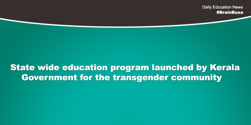 Image of State wide education program launched by Kerala Government for the transgender community | Education News Photo