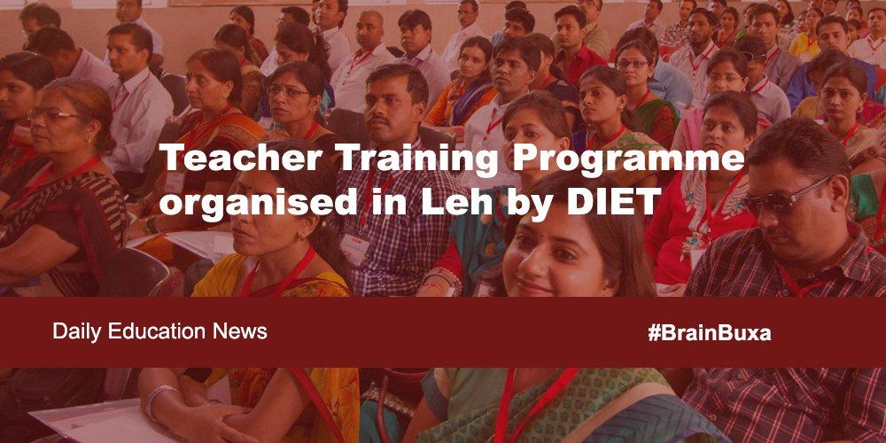 Teacher Training Programme organised in Leh by DIET