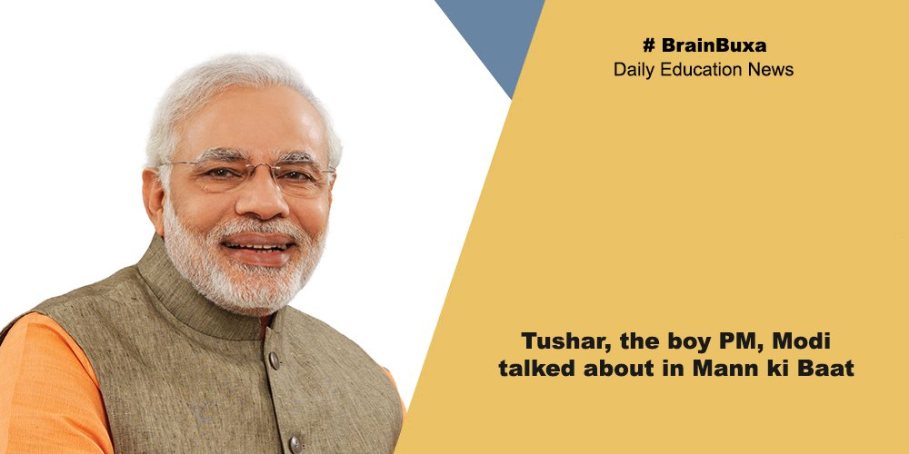 Tushar, the boy PM, Modi talked about in Mann ki Baat