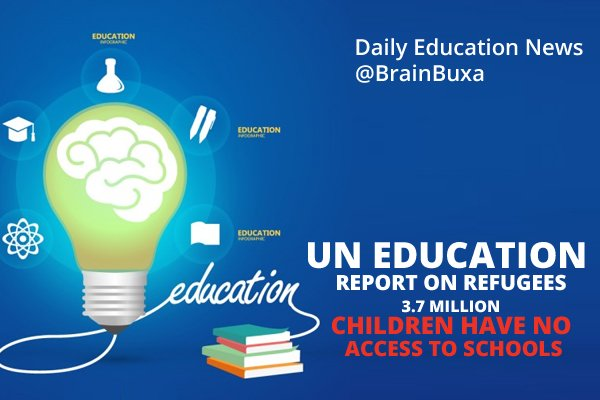 Image of UN education report on refugees: 3.7 million children have no access to schools | Education News Photo