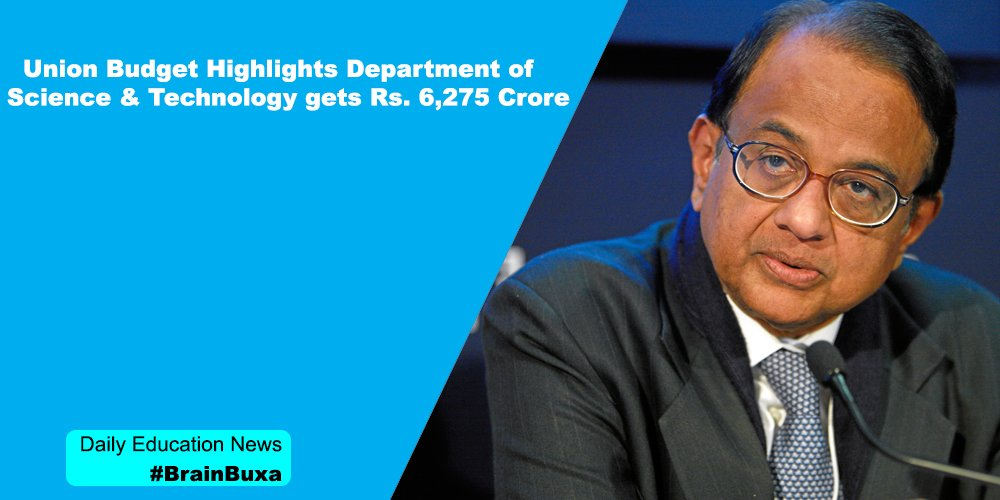 Image of Union Budget Highlights Department of Science & Technology gets Rs. 6,275 Crore  | Education News Photo