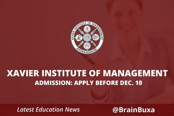 Xavier institute of management admission: Apply before Dec.10