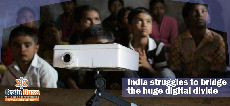 India struggles to bridge the huge digital divide