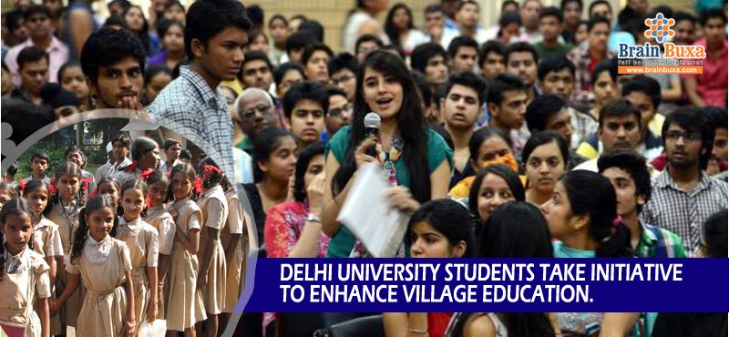 Delhi University students take initiative to enhance village education.