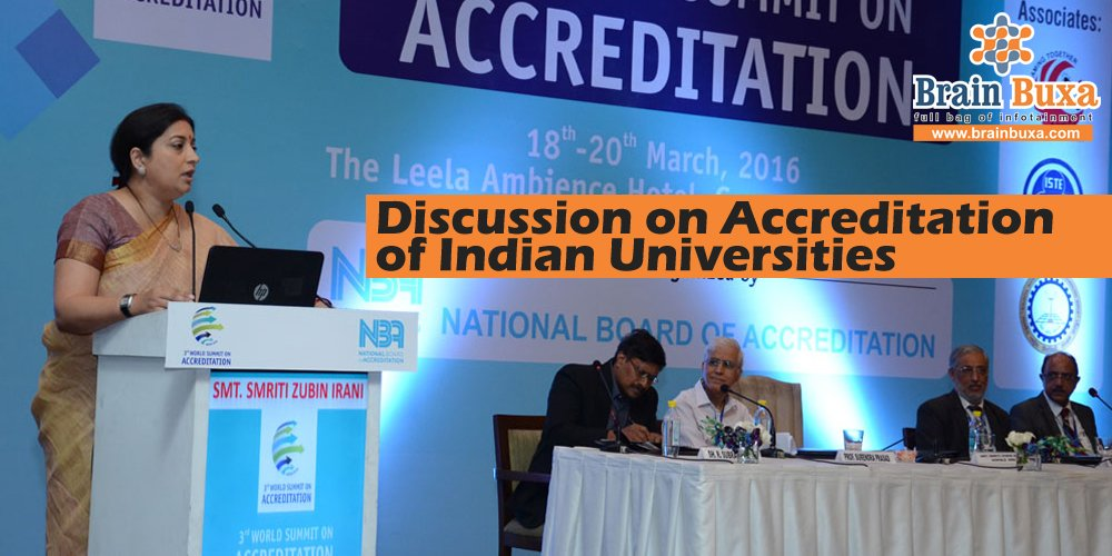 Discussion on Accreditation of Indian Universities
