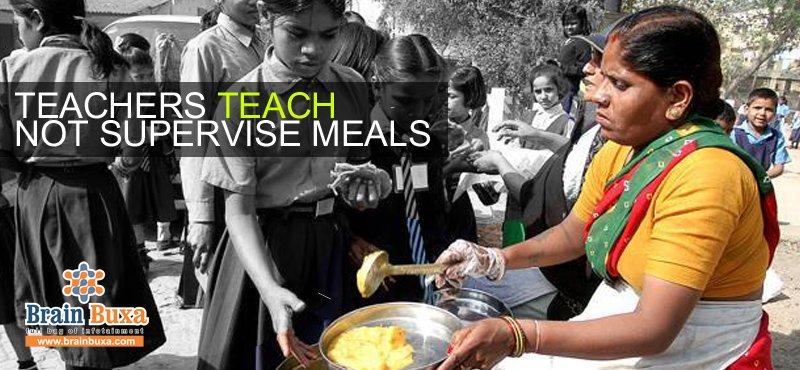 Teachers teach not supervise meals