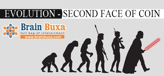 Evolution - second face of coin