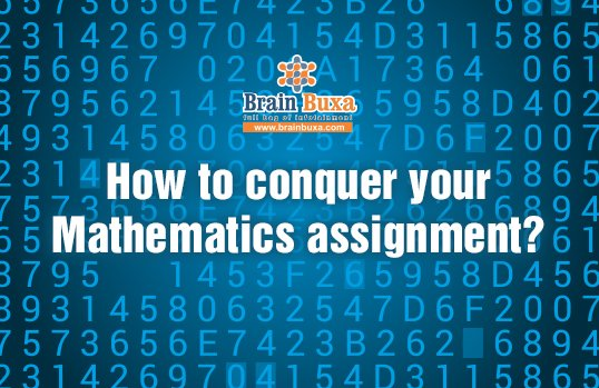 How to conquer your Mathematics assignment