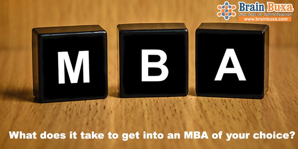 What does it take to get into an MBA of your choice?