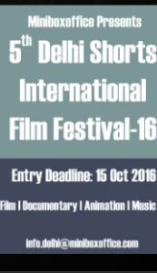 Delhi Shorts International Film Fest-16 logo