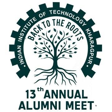 13th Annual Alumni Meet, IIT Kharagpur logo