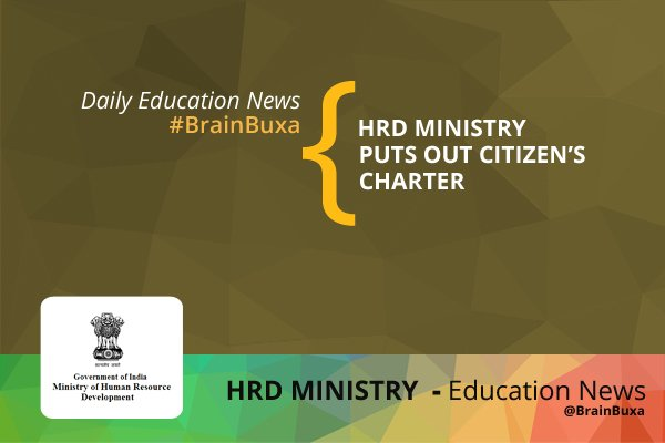 HRD Ministry puts out Citizen's Charter