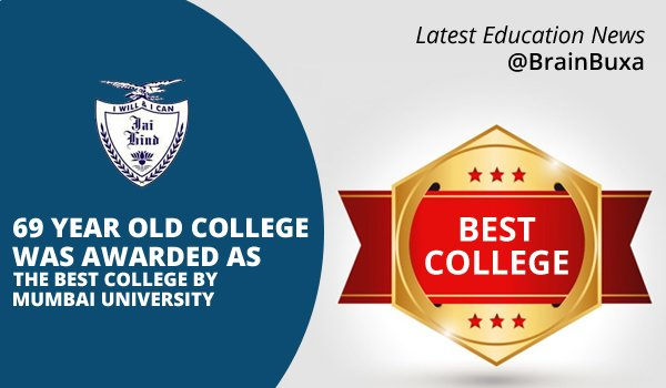 69 year old college was awarded as the best college by Mumbai University