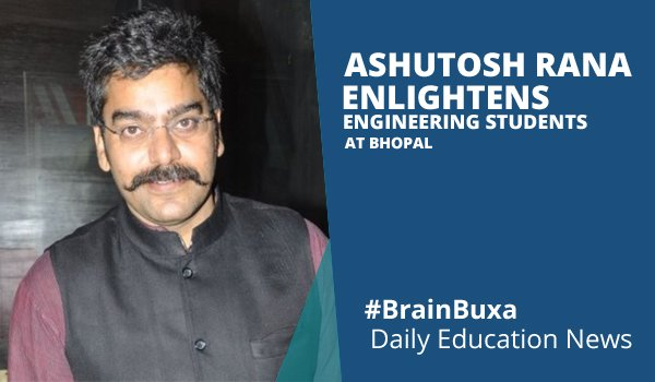 Image of Ashutosh Rana enlightens engineering students at Bhopal | Education News Photo