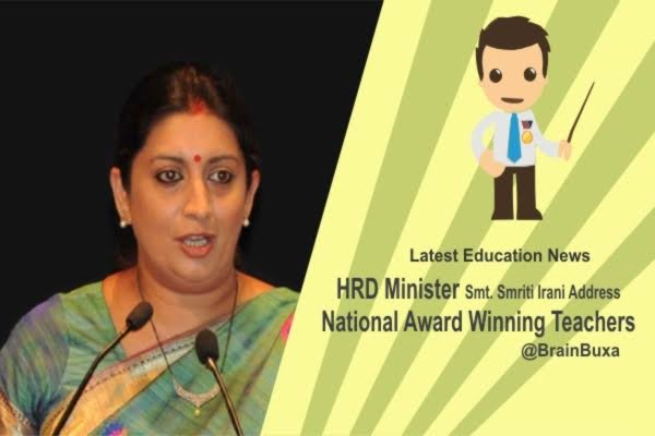 Image of HRD Minister Smt. Smriti Irani Address National Award Winning Teachers | Education News Photo