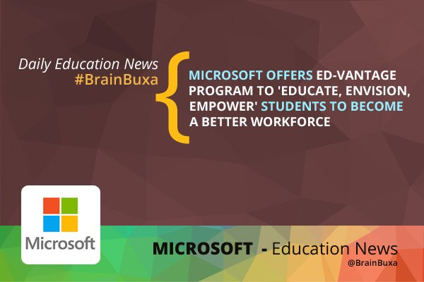 Image of Microsoft Offers Ed-Vantage Program to  Students to Become a Better Workforce | Education News Photo