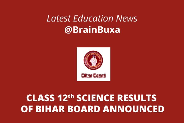 Class 12th science results of Bihar board announced